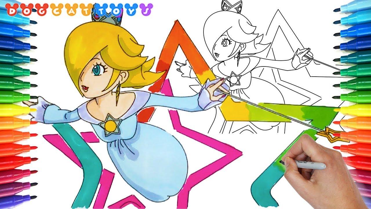 How to Draw Super Mario Galaxy, Rosalina #206 | Drawing ...