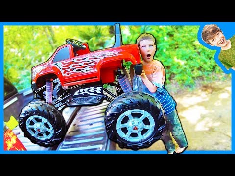 Monster Truck In A Pickup Truck Youtube