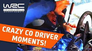 WRC Top 10 co-driver moments