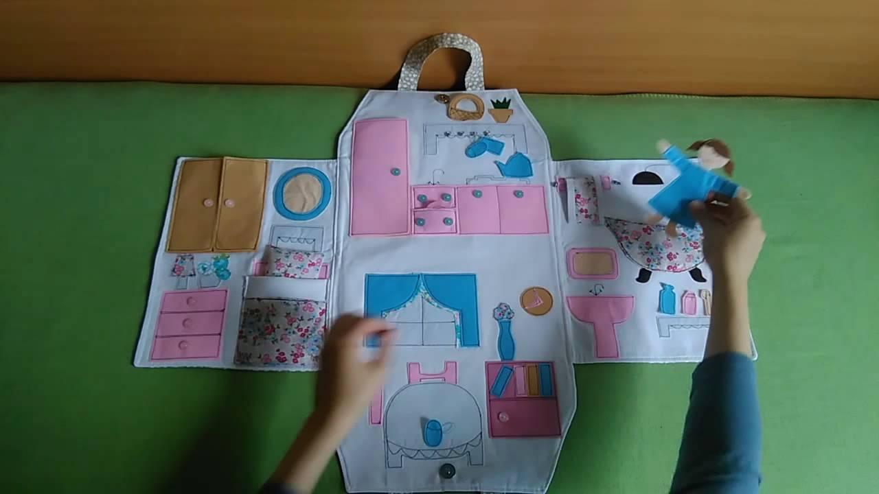 Torbica Za Lutke   Portable Travel Dollhouse   YouTube