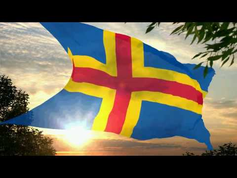 Flag and anthem of the Åland Islands