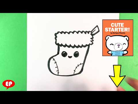 How to Draw Stocking - Christmas Drawings - Step by Step - Easy Pictures to Draw