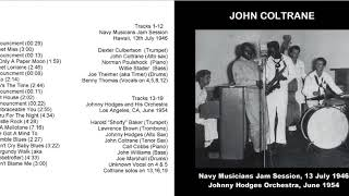 Young John Coltrane Live w/ Navy Band '46 & Johnny Hodges '54 | bernie's bootlegs