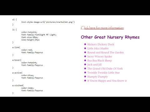 8. HTML, CSS And JavaScript: List And Hyperlink Styles