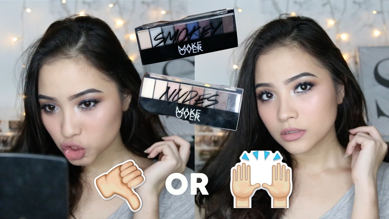 New Makeover Eyeshadow Palette Review + Tutorial  Youtube