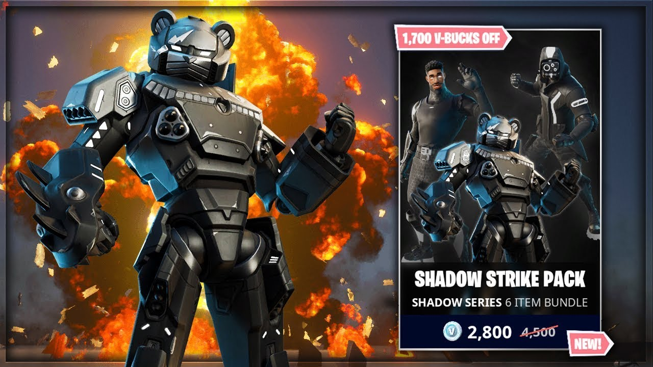 Fortnite Shadow Strike Pack Gameplay! (New Fortnite Pack In Item Shop)
