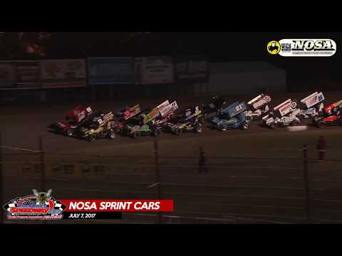 Buffalo Wild Wings NOSA Sprint Cars - July 7, 2017 - River Cities Speedway