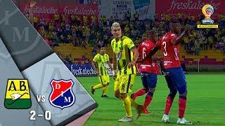 Bucaramanga vs Medellín: resumen y goles del partido 2-0 - Cuartos de final Liga Águila 2018-II