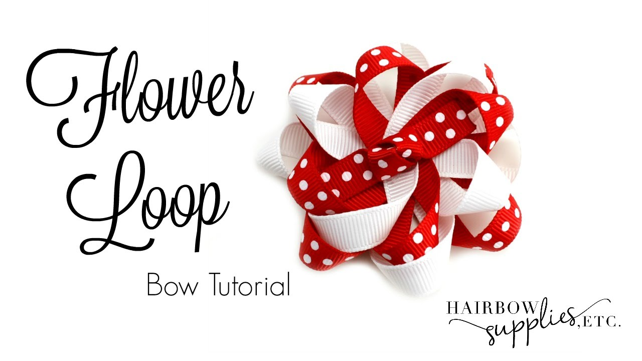 Flower loop hair bow tutorial hairbow supplies etc youtube baditri Image collections