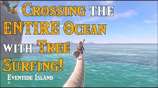 Crossing the ENTIRE OCEAN with Tree Surfing! Looking for the DLC Island in Zelda Breath of the Wild thumbnail