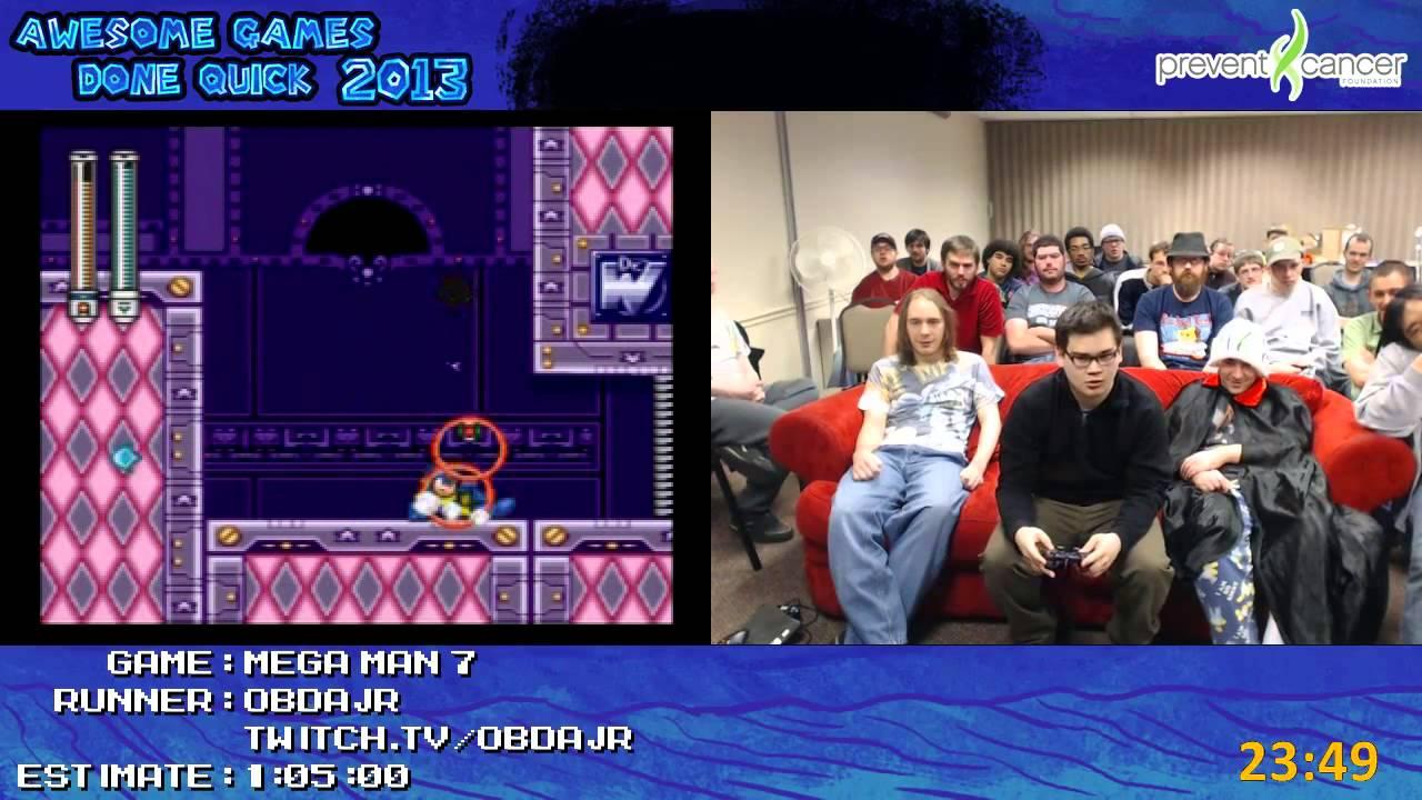 Mega Man 7 Speed Run In 0 42 27 By Obdajr Live At