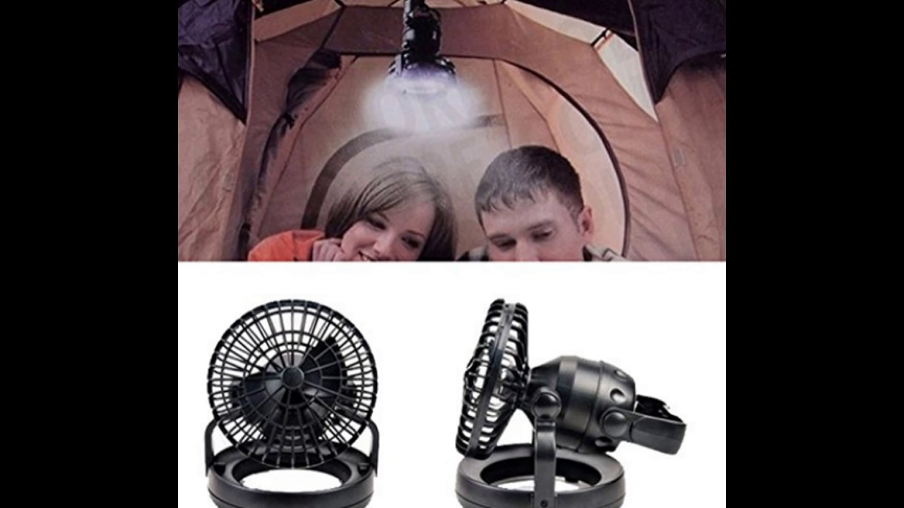 Image Portable Led Camping Lantern With Ceiling Fan Youtube