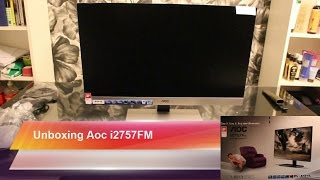 aoc i2757fm unboxing 27 inch monitor small review