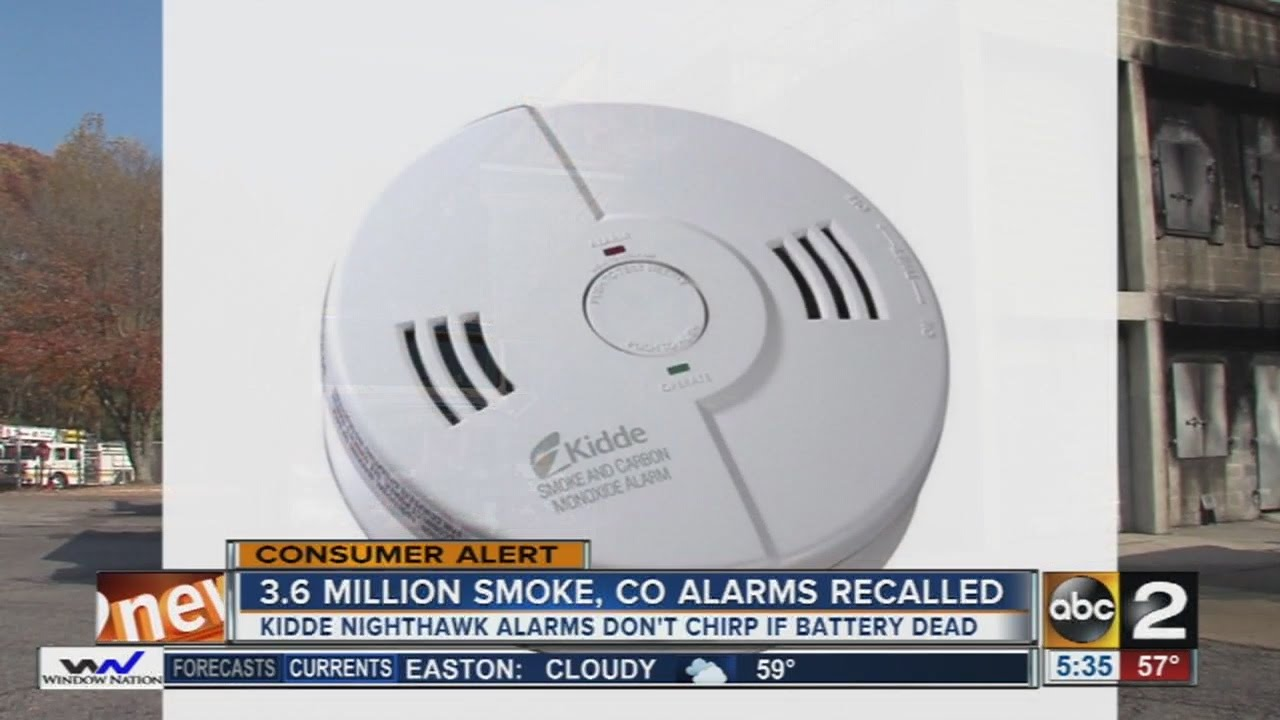 Kidde NightHawk recalls about 3.6 million smoke and carbon monoxide combination alarms