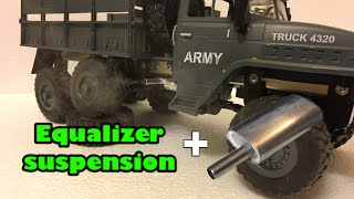 1:12 scale? Ural Russian military truck Equalizer suspension modification plus smoke Machine