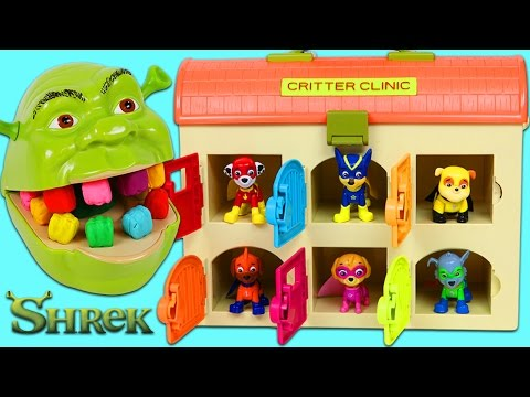 Thumbnail: LEARN COLORS Feeding Hungry Shrek with Color Changing Teeth and Paw Patrol Friends!