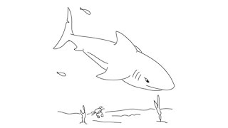 How to draw a Shark - Easy step-by-step drawing lessons for kids