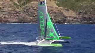 Start of the 2015 Carribbean 600 from Phaedo 3's perspective