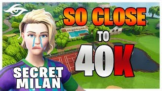 SO CLOSE!!! ANOTHER 39K vs Squads // Secret Milan | Fortnite