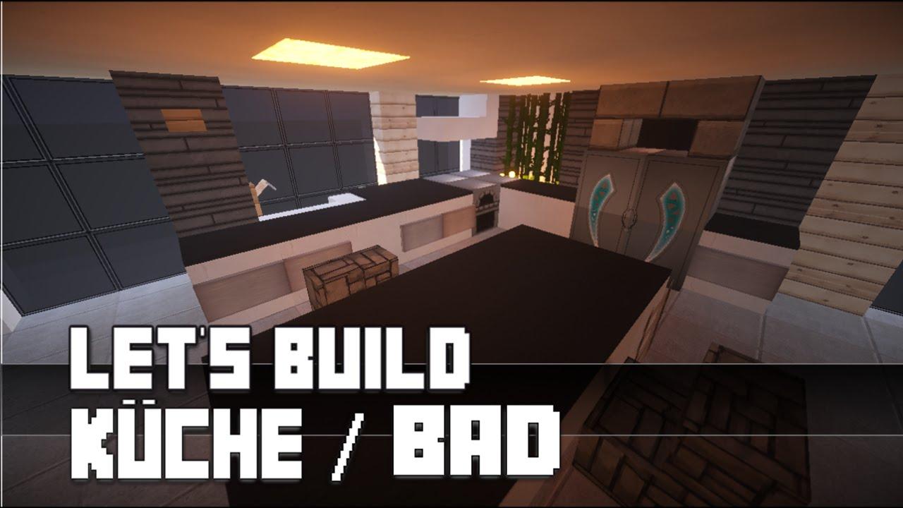 Minecraft :: Möbel Tutorial :: Moderne Küche / Bad [Haus Nr. 12]