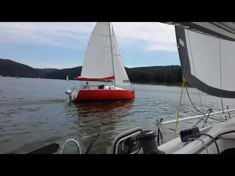 yacht MK Cafe 24 sailing at Slapy, Czech republic