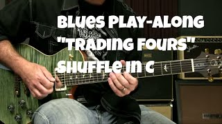 Blues Soloing Play Along - Trading 4s Over A Shuffle In C