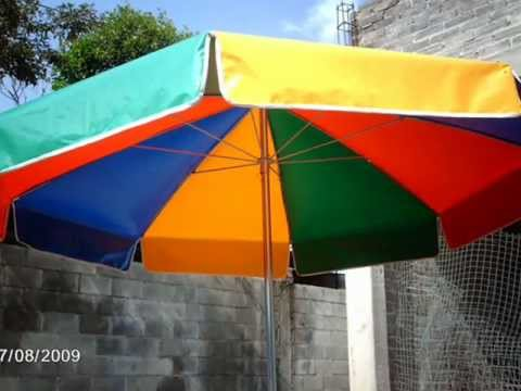 Sombrilla para jardin youtube for Sillas para jardin home depot