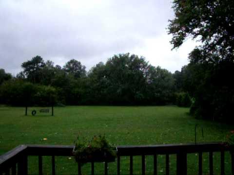 Mechanicsville Va Hurricane Irene video backyard