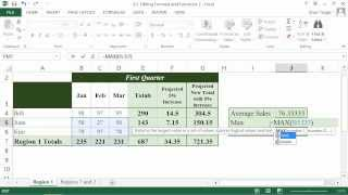 Microsoft Office Excel 2013 Tutorial: Editing Formulas and Functions | K Alliance