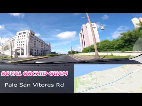 Drive in Guam with map