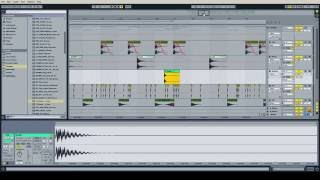 how to make eq and process a simple drum beat ableton live 9