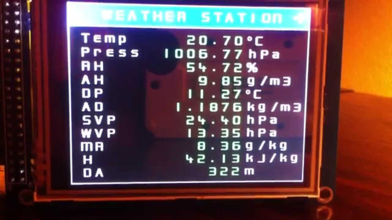 Arduino based touchscreen advanced weather station youtube