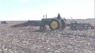 Plowing with Antique Tractors In Arthur Illinois