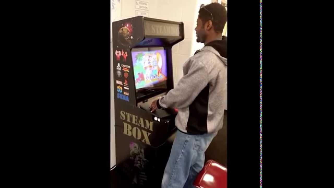 STEAM Box Arcade Build - YouTube