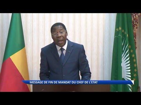 Avant de quitter le pouvoir, le Président Boni Yayi s'adresse aux Béninois