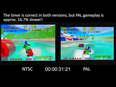 PAL vs. NTSC! - Wave Race (Nintendo 64)
