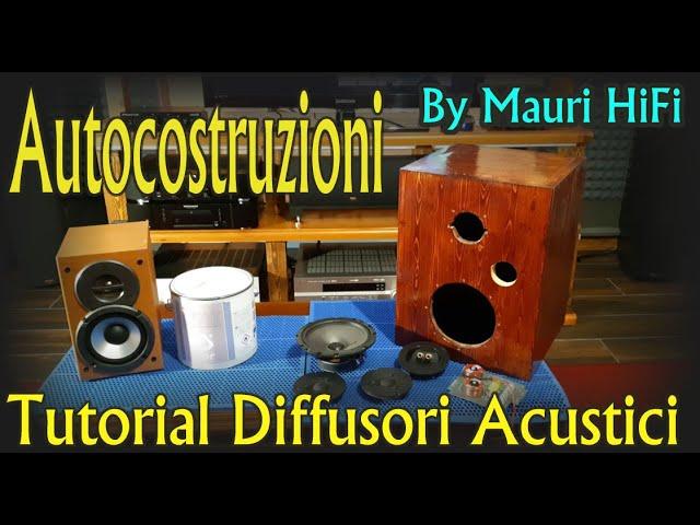 Autocostruzioni di Diffusori Acustici Tutorial uso Anti-Risonante