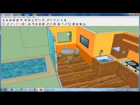 ห้องครัว sketchup basic