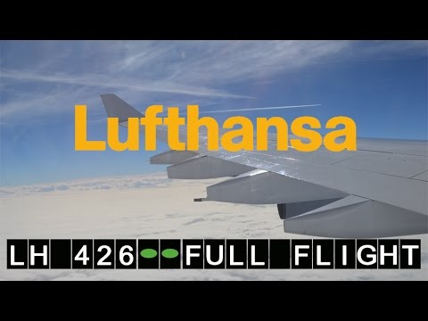 Lufthansa A340 LH 426 Frankfurt Airport -Philadelphia Intl Airport | Full Flight