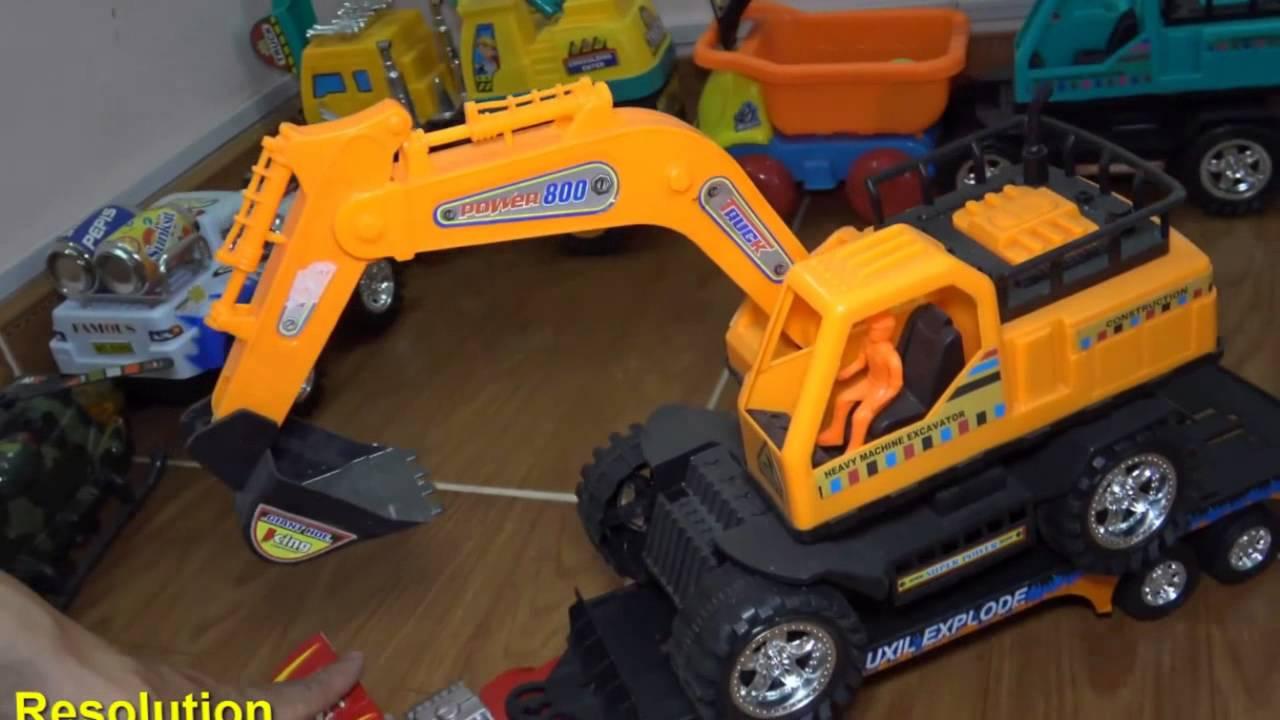 Power Wheels Crane : Videos excavator carrier truck toy playing crane