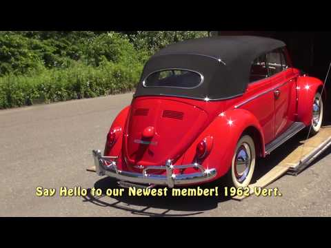 Classic VW BuGs 1962 Beetle Convertible Poppy Red Arrives at the Shop
