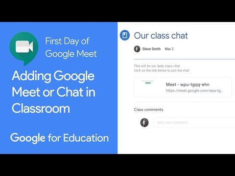 Adding Google Chat Or Meet To Google Classroom