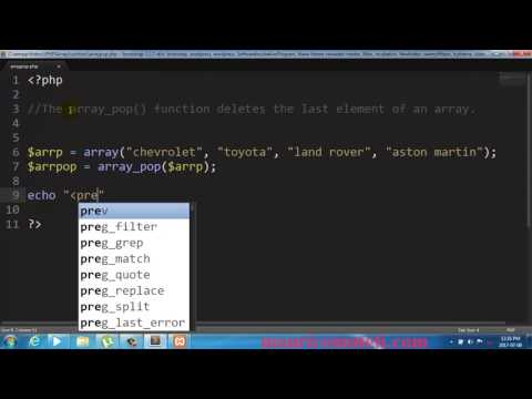 PHP Array Pop Function