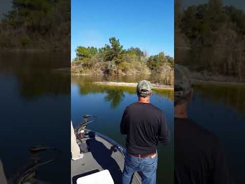 Bass fishing flooded phosphate mines in Florida