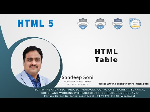 HTML 5  | Table