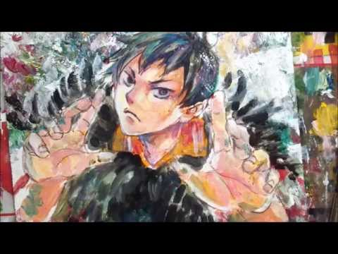 Acrylic Speedpainting Haikyuu Kageyama Youtube