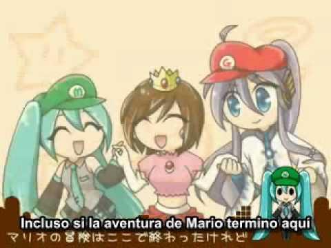Go Go Mario!! (Vamos Vamos Mario!!) (subs spanish mp3 and Lyrics) [VOCALOID]