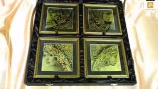 Подарочный набор картин из сусального золота Четыре Стихии