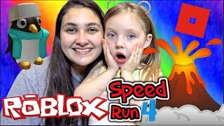 KAIA guarda SISSY en ROBLOX SPEED RUN 4. ¡JUEGO FAMILIAR FALLO! NIVELES 1-10 Las Hermanas TOYTASTIC