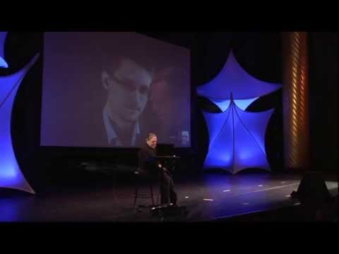"""Edward Snowden and John Perry Barlow, """"A Conversation Across Cyberspace"""""""